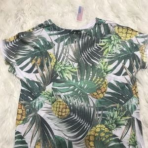 TRYST Palm Fronds and Pineapples T-Shirt